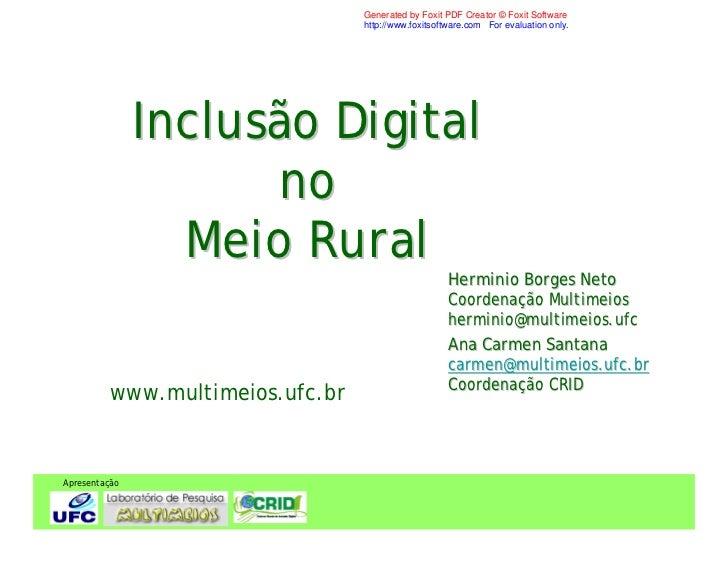 Inclusão Digital  CRID