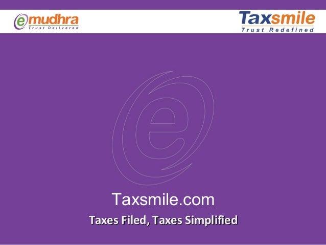 Taxsmile.comTaxes Filed, Taxes SimplifiedTaxes Filed, Taxes Simplified
