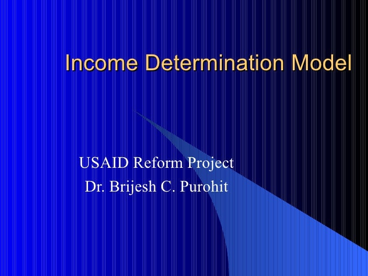 Income Determination Model (Pratik Negi)