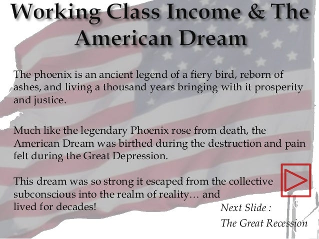 Next Slide : The Great Recession The phoenix is an ancient legend of a fiery bird, reborn of ashes, and living a thousand ...
