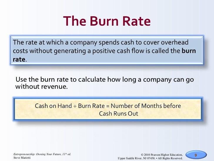 cash burn cash earnings