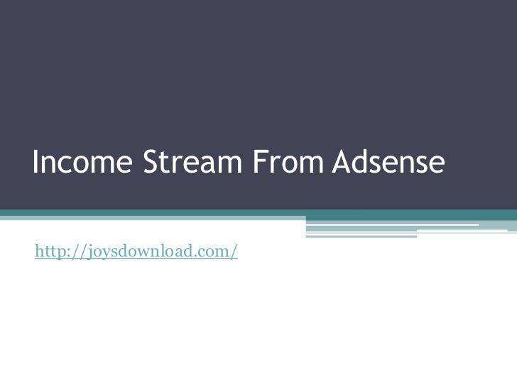 Income stream from adsense
