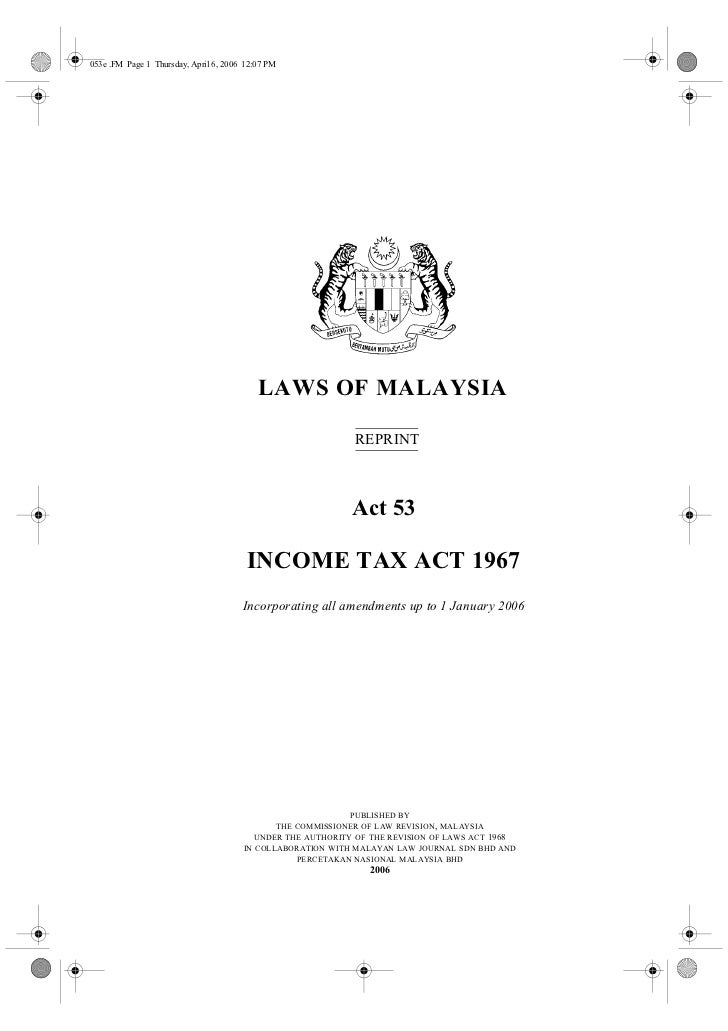 053e .FM Page 1 Thursday, April 6, 2006 12:07 PM                                           LAWS OF MALAYSIA               ...