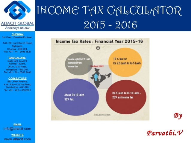 income tax calculator 2015
