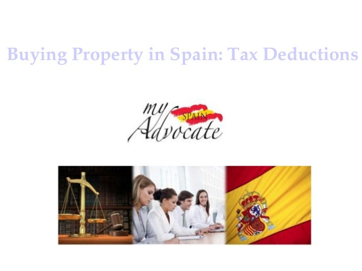 Income tax deductions on property barcelona