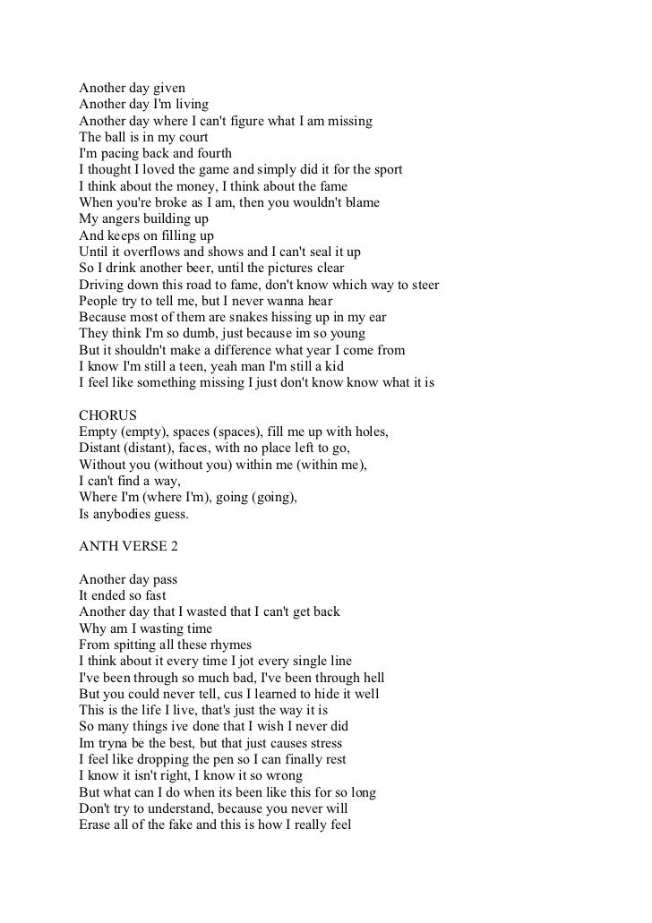 the lyrics to the song incomplet by conor maynard and anth