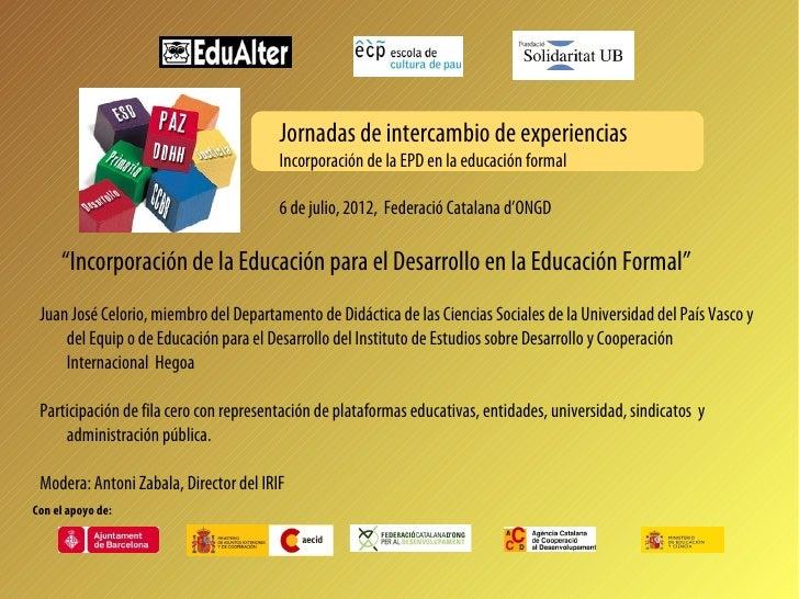 2012.07.06 Incorporación de la educación para el desarrollo