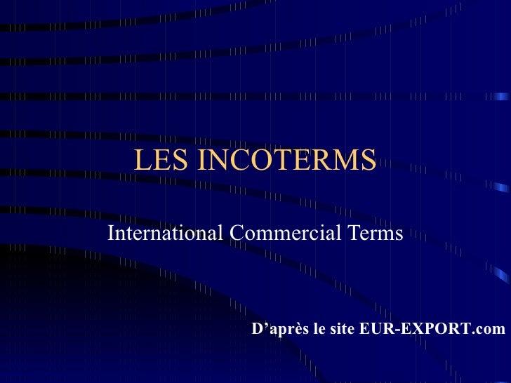 Les Incoterms 2000