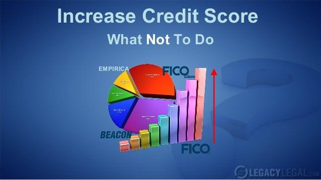 Increase Credit ScoreWhat Not To DoEMPIRICA
