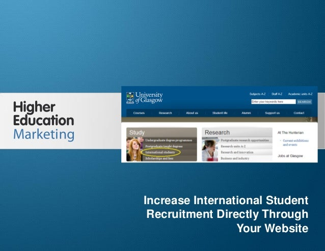 Increase International Student Recruitment Directly Through Your Website  Increase International Student Recruitment Direc...