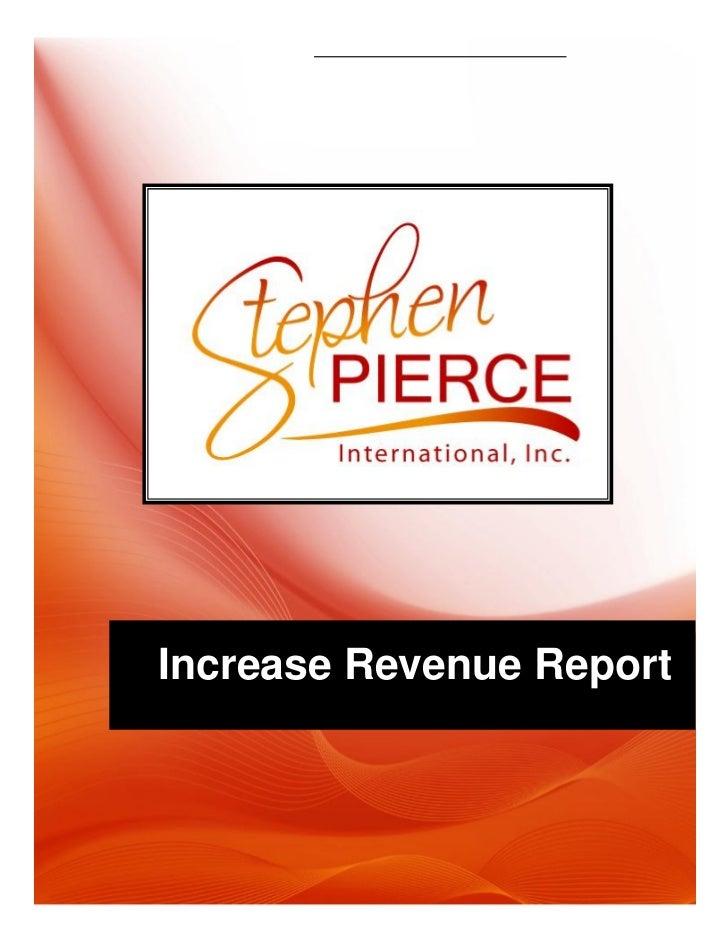 Increase Revenue Report