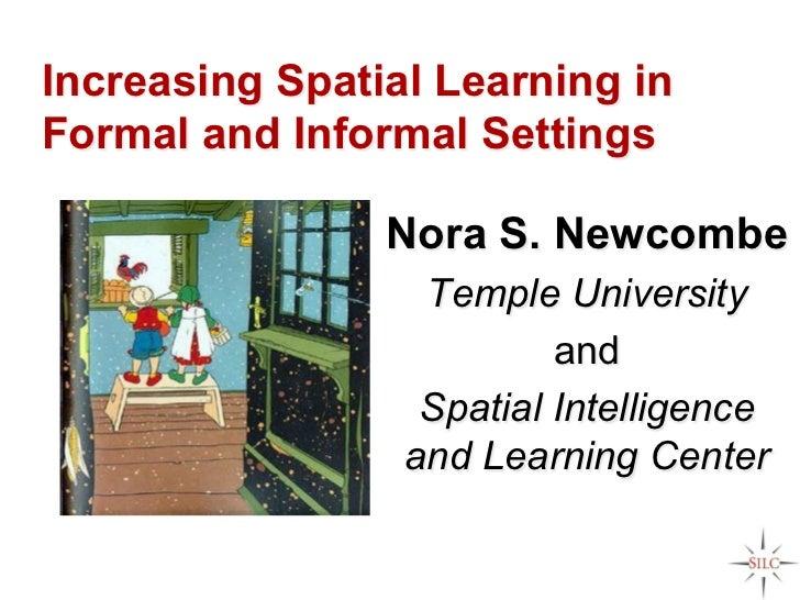 Increase Spatial Learning in Formal and Informal Settings