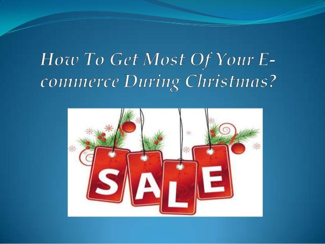 Did you know?  48% of shoppers will do half of their Christmas Shopping online this year