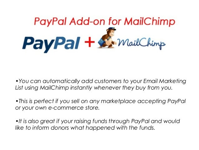 •You can automatically add customers to your Email Marketing List using MailChimp instantly whenever they buy from you. •T...