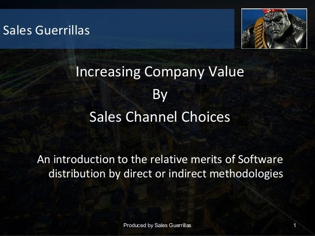 Increasing company value by sales channels choices 1.1