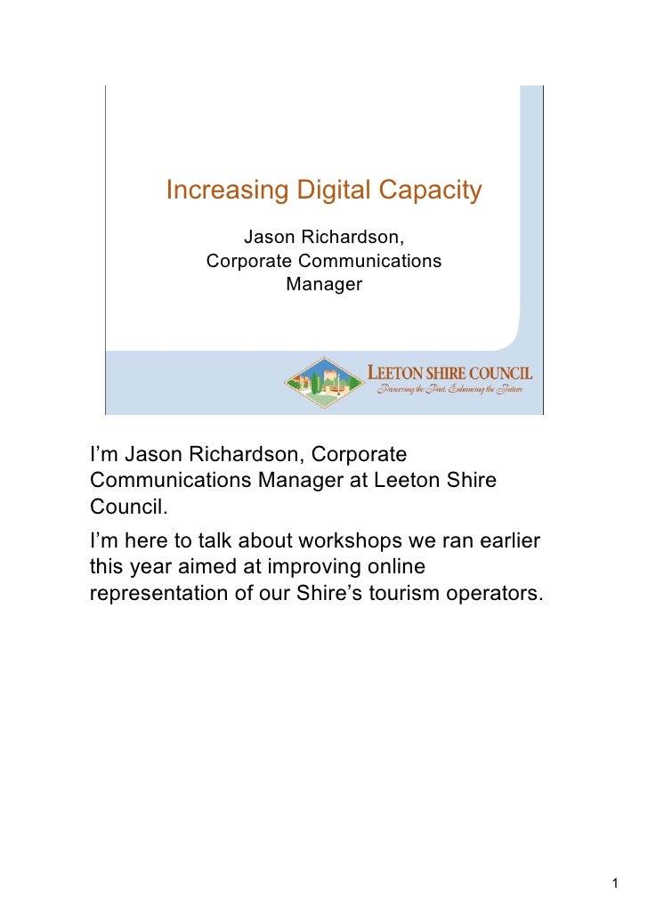 Case Study - Increasing Digital Capacity