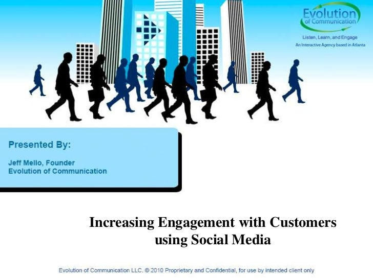 Increasing engagement with customers using social media