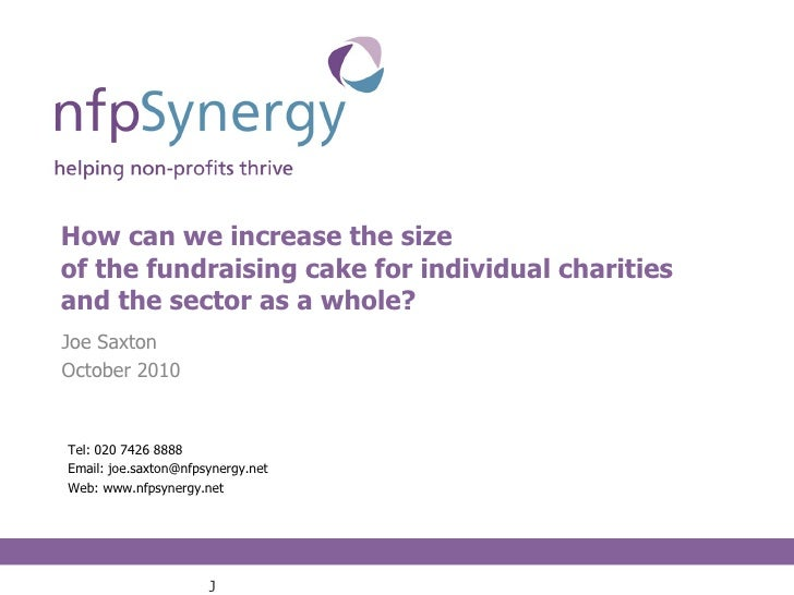 Increasing the size of the fundraising cake