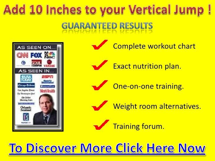 Increasing your vertical