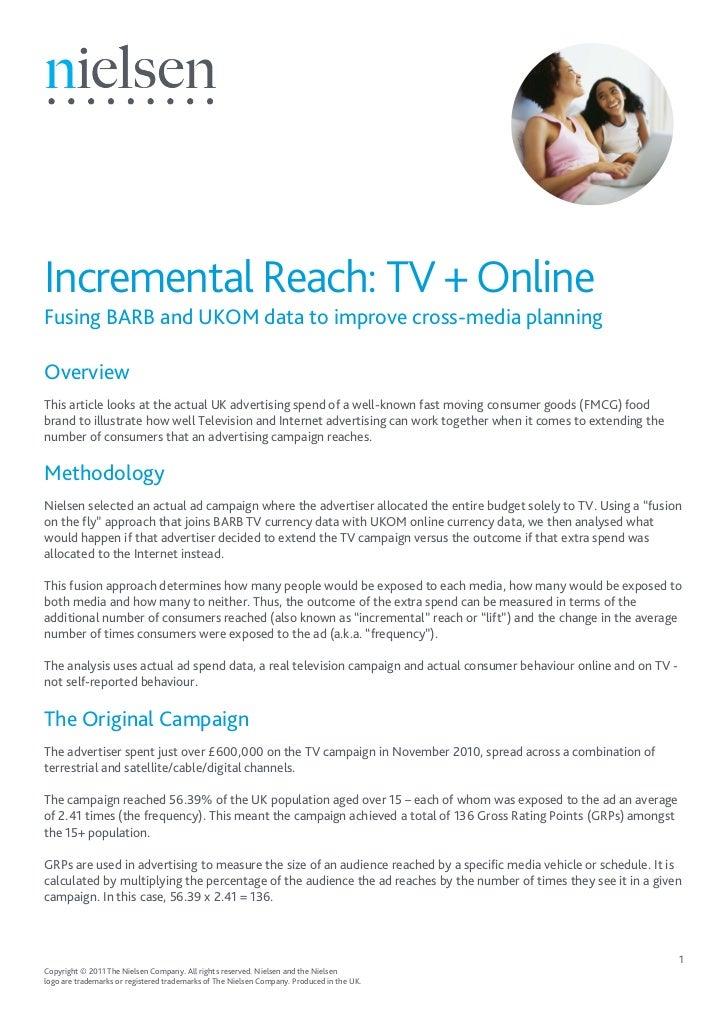 Nielsen: UK Incremental Reach: TV + Online Fusing BARB and UKOM data to improve cross-media planning