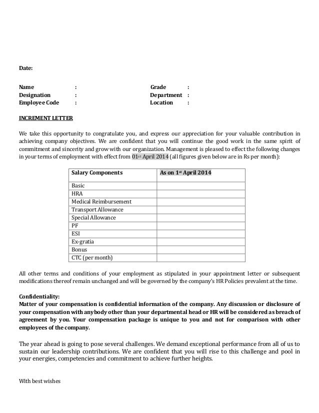 pin salary increase letter to employee template on pinterest