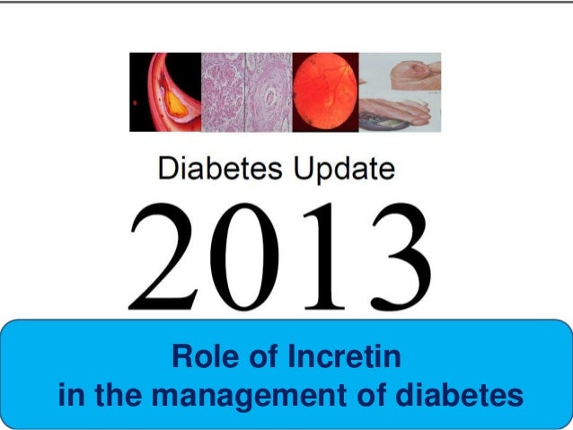 Role of Incretin in the management of diabetes