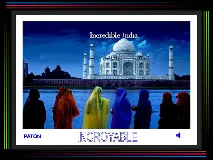 Incroyable inde