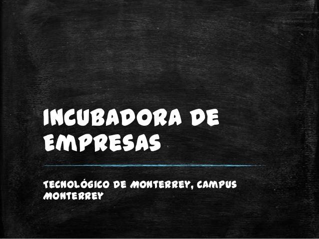 Incubadora deEmpresasTecnológico de Monterrey, CampusMonterrey