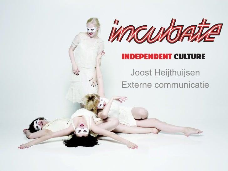 Incubate - Presentatie Vscd Studiemiddag