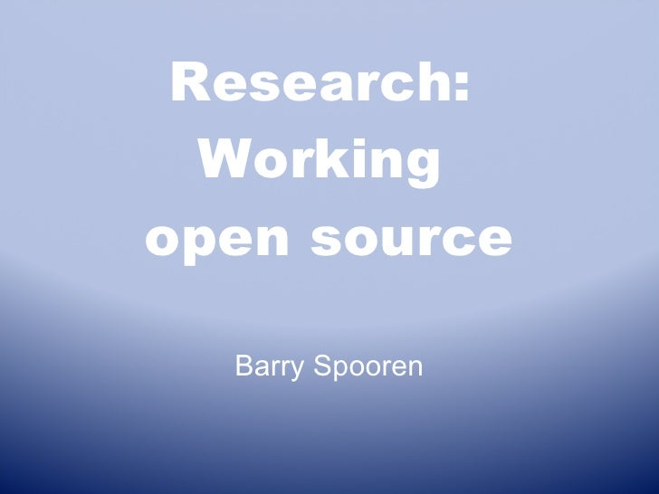 Research Open Source