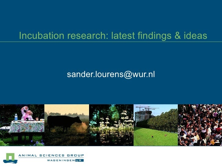 Incubation research: latest findings & ideas [email_address]