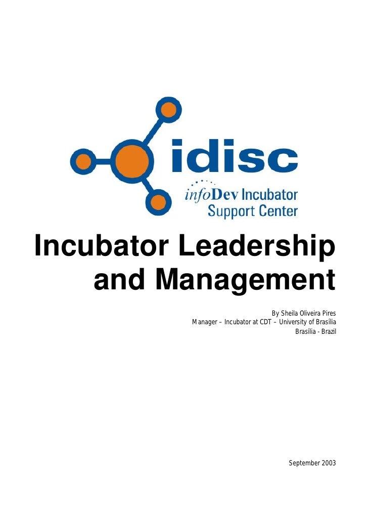 Incubator leadership
