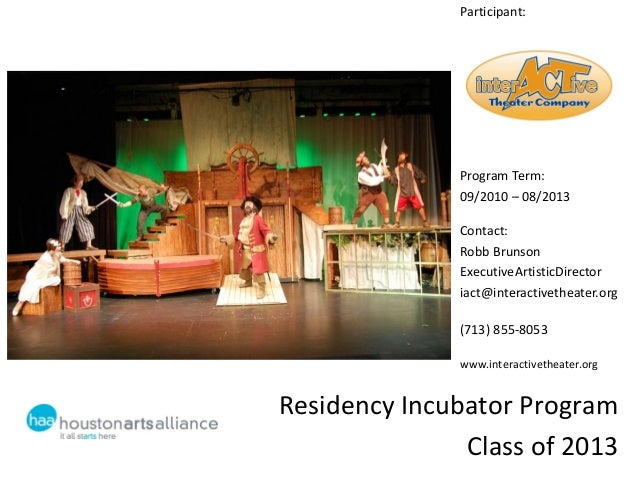 Learning Sessions #6 Residency Incubator: InterActive Theater Company
