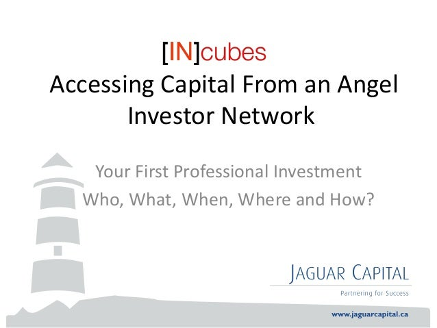Accessing Capital From an Angel Investor Network Your First Professional Investment Who, What, When, Where and How?