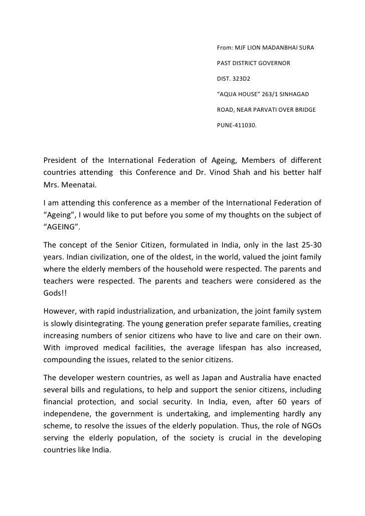 From: MJF LION MADANBHAI SURA                                                    PAST DISTRICT GOVERNOR                   ...