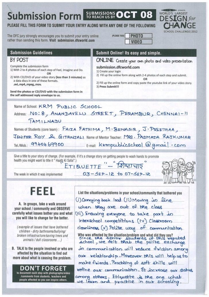 IND-2012-248 KRM Public School -Etiquette