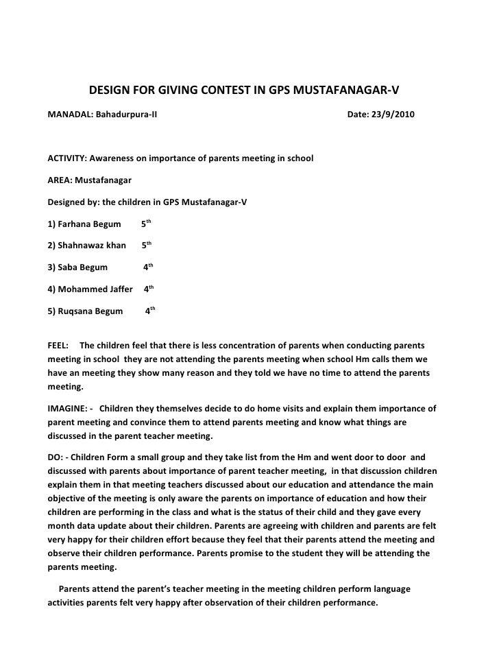 DESIGN FOR GIVING CONTEST IN GPS MUSTAFANAGAR-V MANADAL: Bahadurpura-II                                                  D...