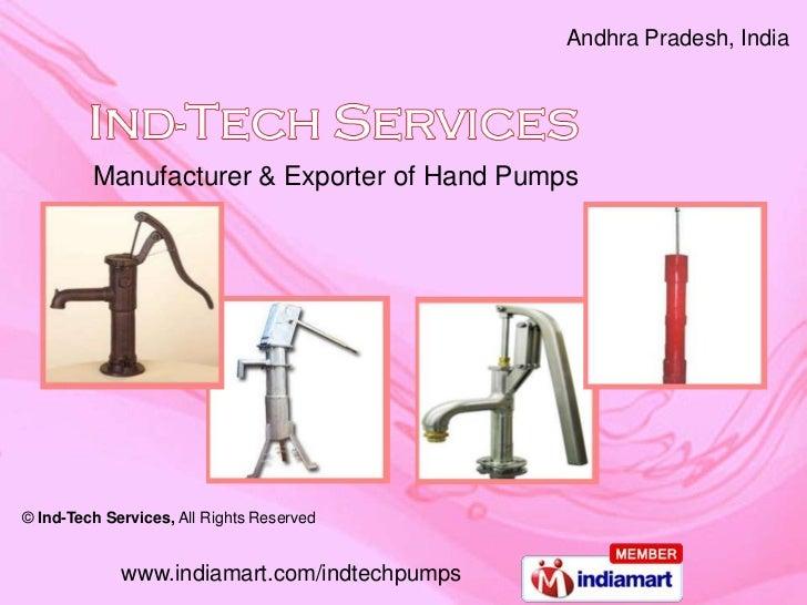 Water Hand Pumps Deep Well Pumps Andhra Pradesh India