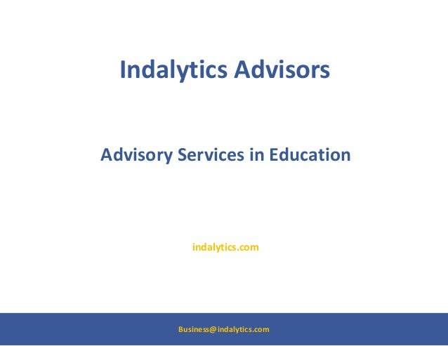 Indalytics advisors   advisory services