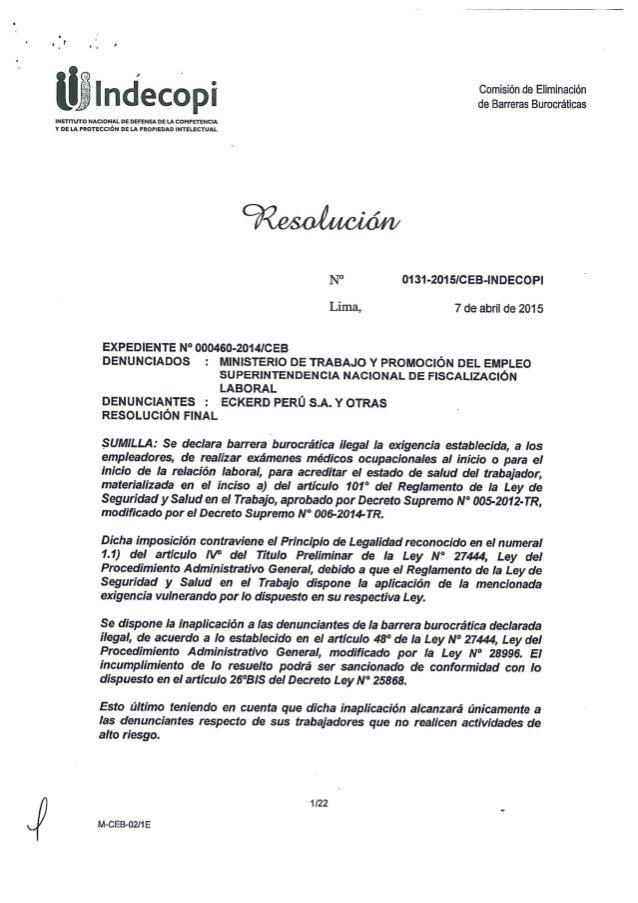 T u r .  I .  '  l .   Ü H y @ ° Comisión de Eliminación  _ Im É C © p Ü de Barreras Burocráticas INSTITUTO NACIONAL DE DE...