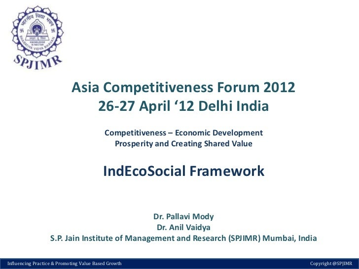Asia Competitiveness Forum 2012                                26-27 April '12 Delhi India                                ...