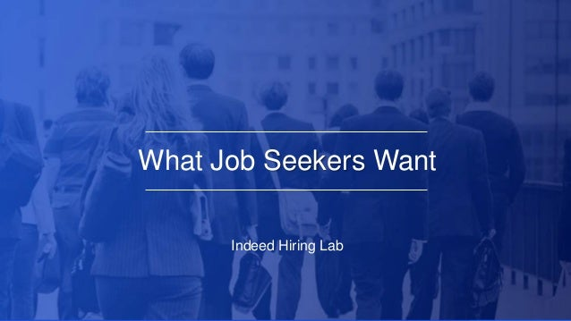 What Job Seekers Want