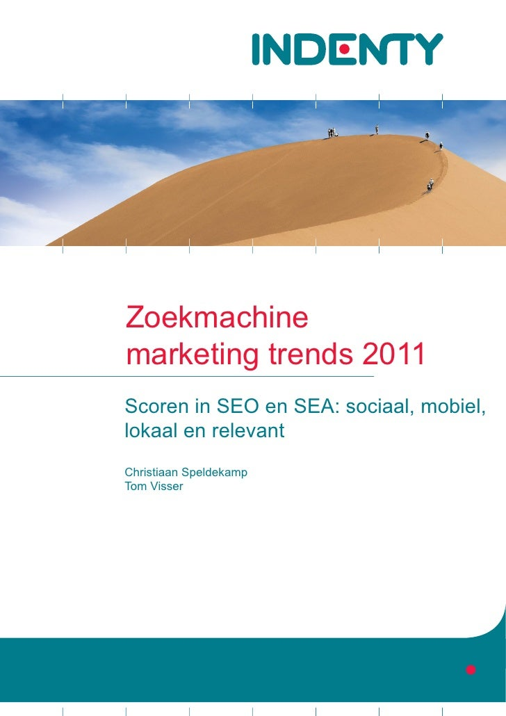 Indenty trendanalyse zoekmachine marketing 2011