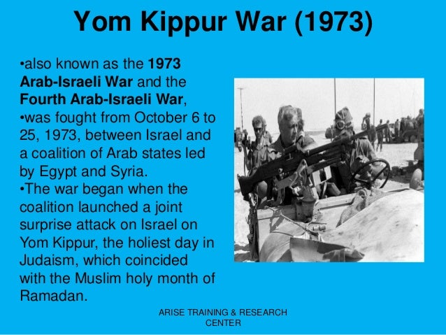 an analysis of the international effects of the yom kippur war of 1973 Egypt had greater latitude than israel to call up reserves without ill effects yom kippur war of 1973: a battle analysis yom kippur war international.