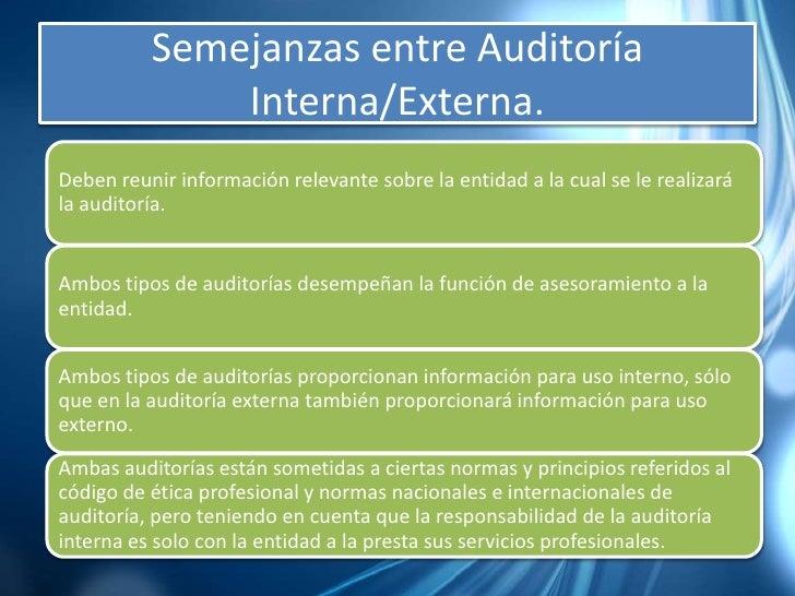 Auditoria Interna Funciones Auditoría Interna/externa