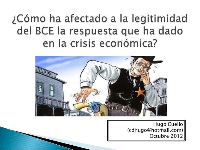 Hugo Cuello (cdhugo@hotmail.com) Octubre 2012