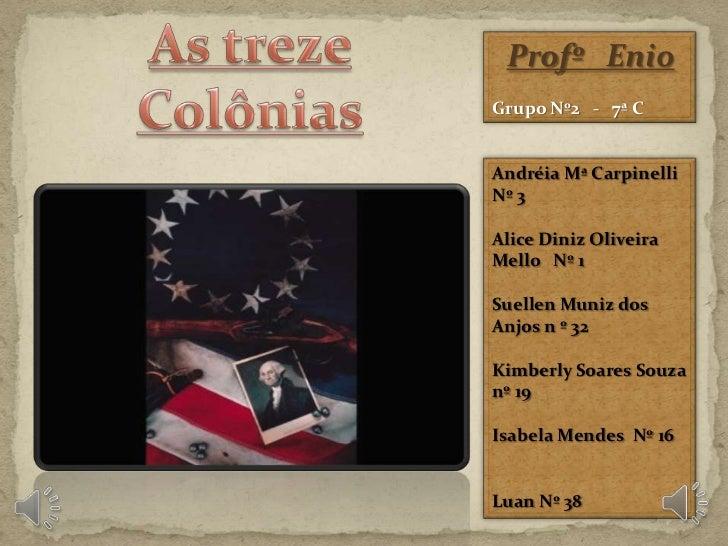 As treze colônias USA