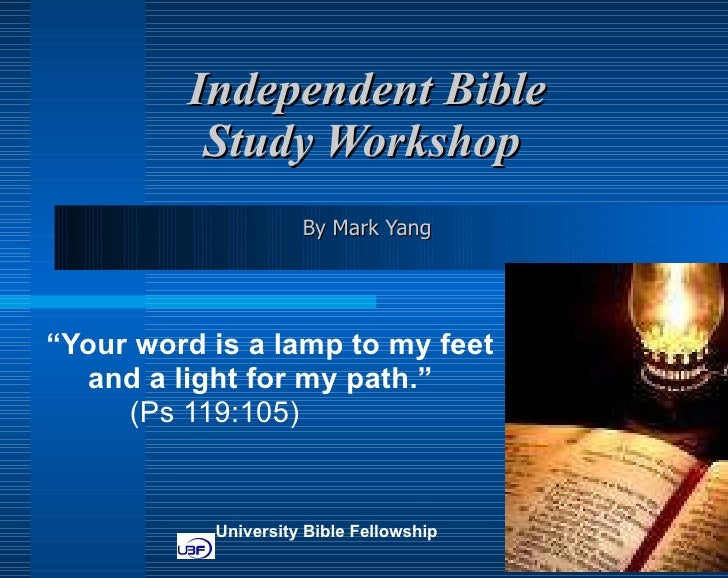 Independent Bible Study Workshop at Bonn UBF by Mark Yang