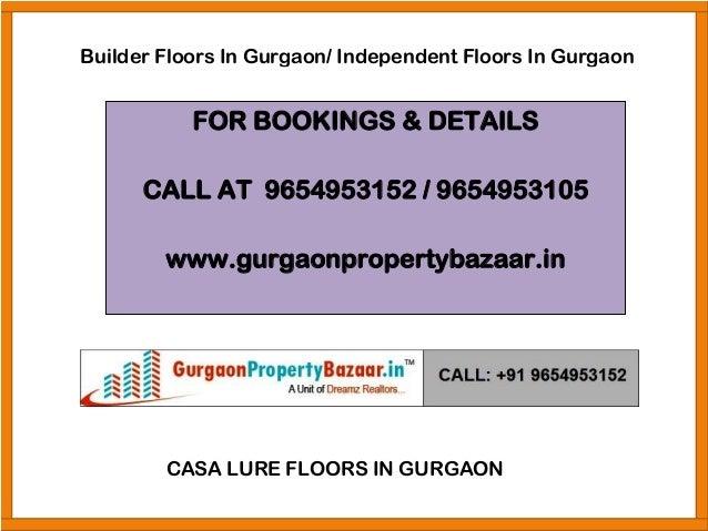Independent Floors In Gurgaon, 9654953152, Floors In Gurgaon