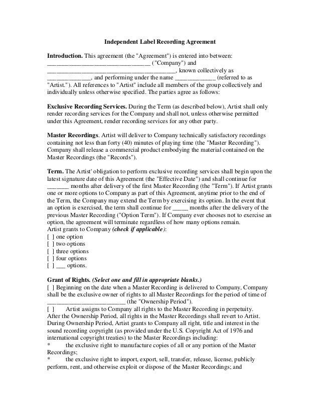 website contract template